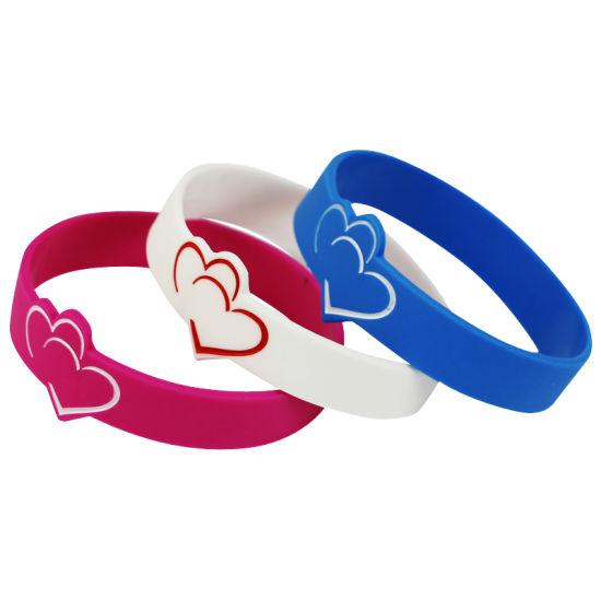 Sample Free Printed Silicone Wrist Band Silicone Bracelets