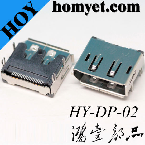 Manufacturers Supply Right Angle 19pin SMT HDMI Female Connector for Household Appliances pictures & photos