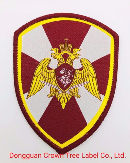 Custom Design Name Applique Embroidered Shoulder Badge for Army Uniforms