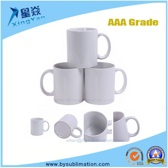Wholesale AAA Grade Coated Ceramic Sublimation White Mug