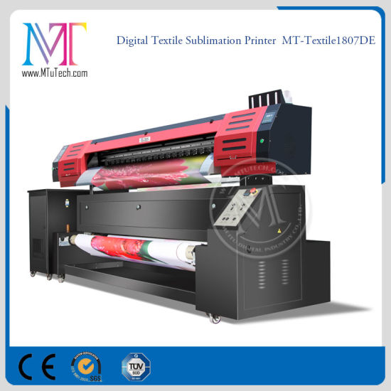 Cotton Textile Large Format Inkjet Printer with Epson Dx7 Printheads  1 8m/3 2m Print Width 1440dpi Resolution for Fabric Directly Printing