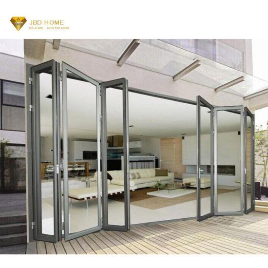 Insulated Accordion Glass Doors Lowes Pella Soundproof Folding Door Aluminium Profile Exterior Accordion Glass Folding Door