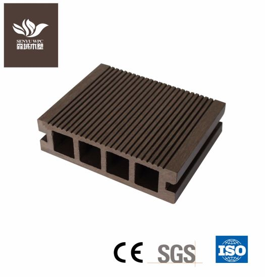 140*40 Hollow WPC Wood Plastic Composite Decking Board for Flooring