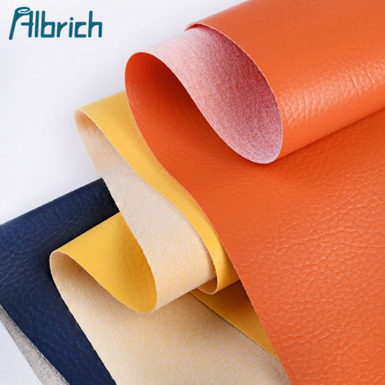 Colorful Litchi Grain Bag Luggage Synthetic Leather PVC Artificial Leather for Sofa Car Seat PU Materials