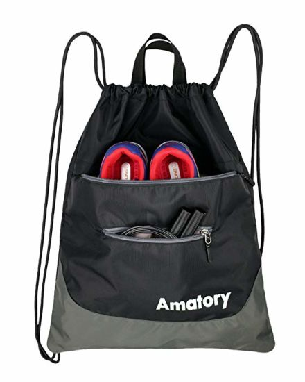 Promote Sale Large Gym Bag Custom Polyester Drawstring Bag pictures & photos