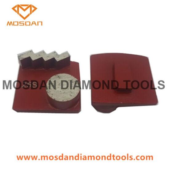 Redi Lock Single Zigzag Button Diamond Tools for Concrete Grinding