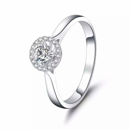 Wholesale Production 925 Sterling Silver & CZ Engagement Ring Jewelry pictures & photos