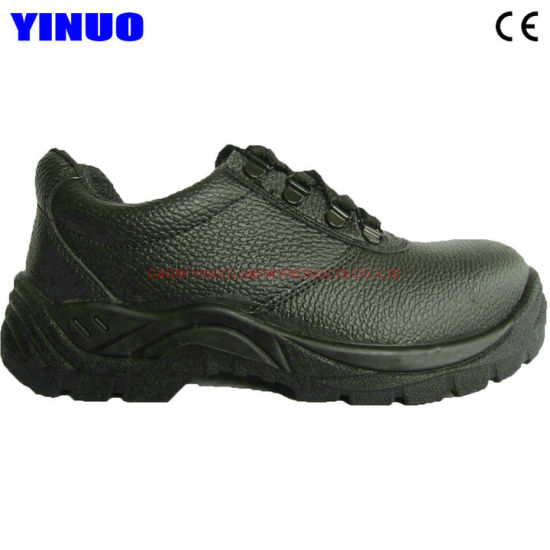 Genuine Leather Upper Steel Toe Men Construction Work Safety Shoes