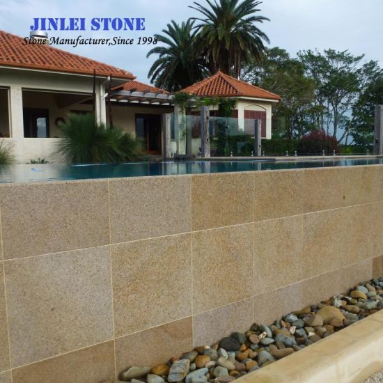 G682 Rusty/Sunset Gold Granite Tile Paving Stone Granite Floor for Outdoor and Garden Project