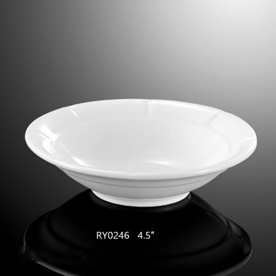 New Arrived White Small Porcelain Round Bowl for Hotel pictures & photos