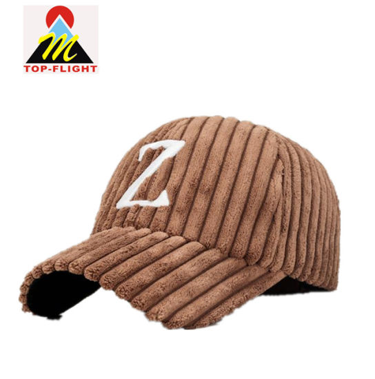 00b48ed2 China 3D Embroidery Winter Corduroy Baseball Cap Twill Dad Hats ...