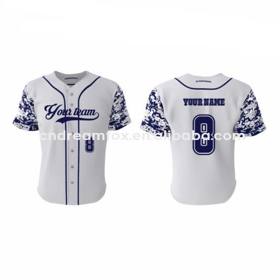 Hot Item Custom Sublimation Pinstripe Baseball Jersey Whole Tee Shirts