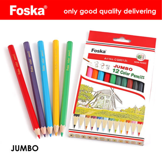 7 0′′ 12 Colors Jumbo Wooden Hexagonal Color Pencil