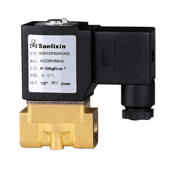 Sgh Compact Series Directing Acting Solenoid Valve--Normally Closed