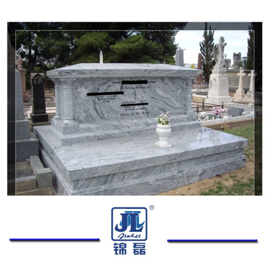 Natural Polished Viscount White Granite for Headstone Monument Tombstone