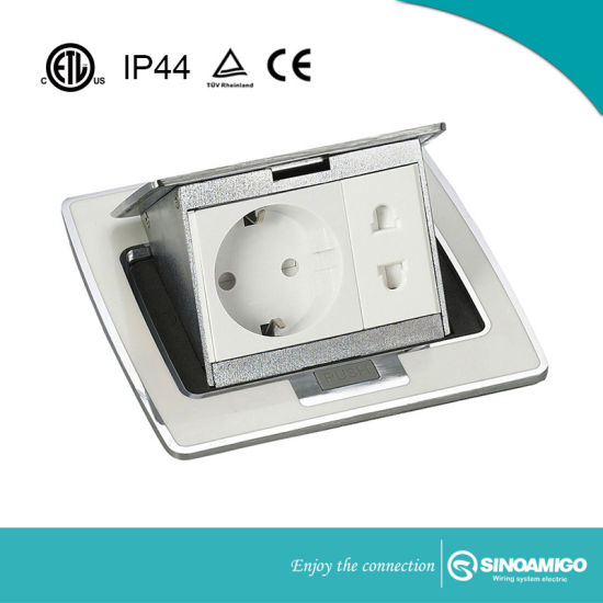 IP 44 Kitchen Table Box/Floor Boxes/Floor Outlet Boxes/Floor Sockets with Multi Switches&Sockets pictures & photos