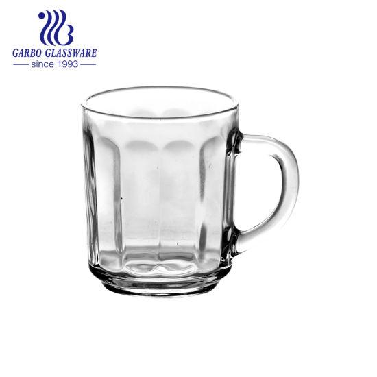 Good Price Engarved Glass Juice Milk Tea Coffee Mug (GB094408H)