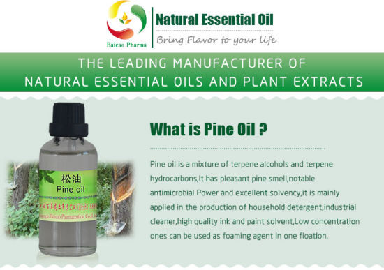 China Bulk Quantity Oil with 50% 65% 70% 85% 90% 98% Terpineol