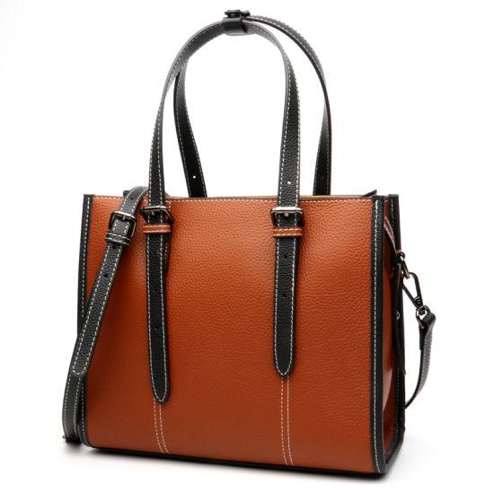 Four Colors Full Grain Cow Leather Women Shoulder Hand Bag