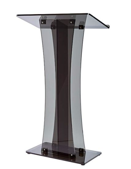 China Acrylic Stand Up Pulpit Design Floor Standing Podium
