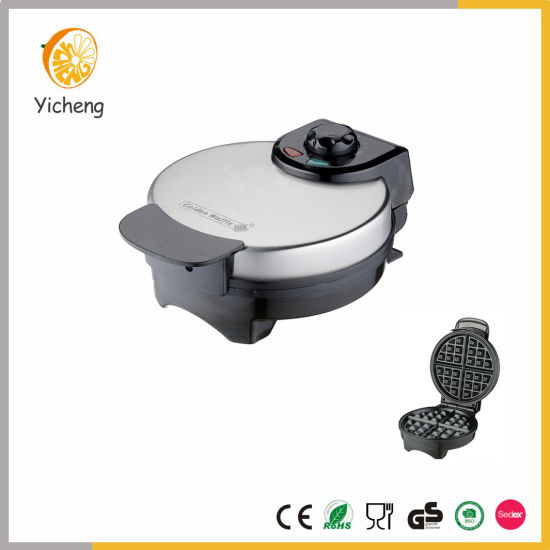 American Waffle Maker Iron Machine 850W Electric Stainless Steel Mould Non-Stick Coating Deep Cooking Belgian Waffle Plates with Adjustable Temperature Control pictures & photos