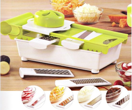 5 in 1 Plastic Vegetable Chopper Grater with Steel Parts No. Cg006