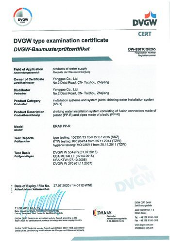 Crome Handle II Dvgw PPR Stop Valve pictures & photos
