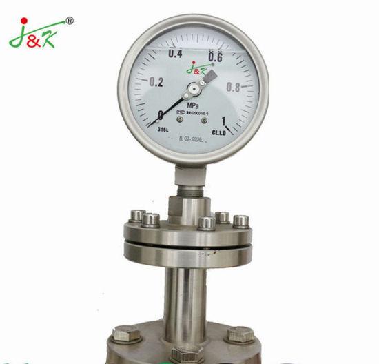 Stainless Steel Shock Resistant Pressure Gauge with Flange^^