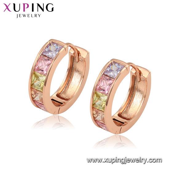 52ead1f72d6246 Imitation Fashion Cheap Small Stone Around Rose Gold Earrings Diamond Hoop Earring  Jewelry