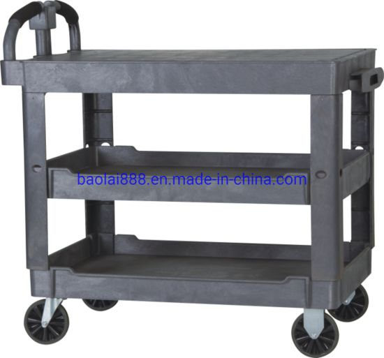 Hotel Metal Vehicle Service Carrier Cleaning Trolley Cart