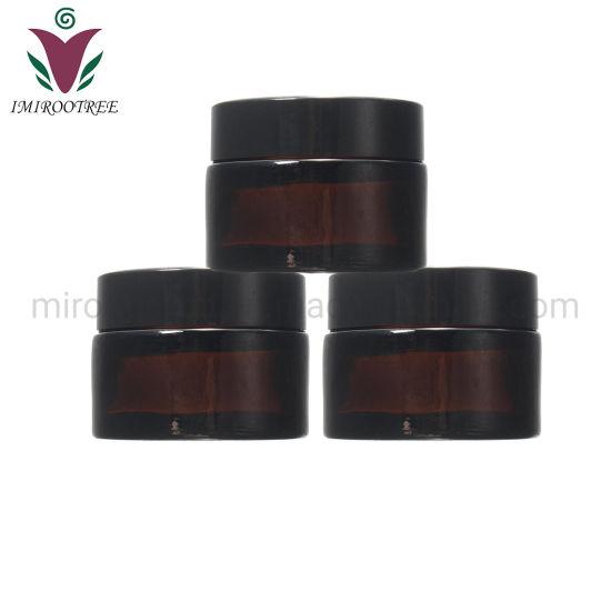 Imirootree Wholesale Empty 30ml Amber Glass Cosmetic Jar
