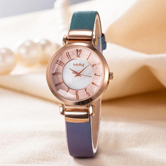 ODM Fashion Leather Strap Quartz Classic Ladies Wrist Watch Wy-093