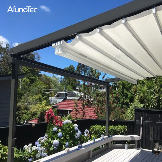 reputable site 9b2d4 0746f Aluminum Retractable Garden Canopy Top Roof Awning