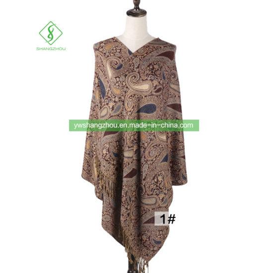 Bohemian Style Fashion Cashew Jacquard Scarf Long Pashmina Women Shawl