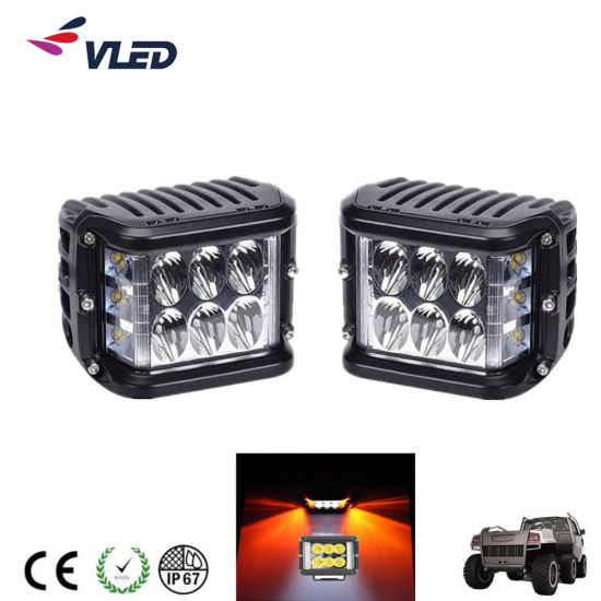 2019 New 24W Side Strobe Flash LED Light Bar Driving Light for 4X4trucks off-Road Vehicles 9-32V 6000K