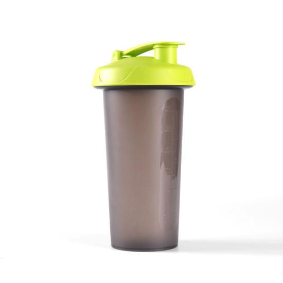 Plastic PP Protein Shaker Water Bottle Custom Logo Water Bottle Protein Shaker