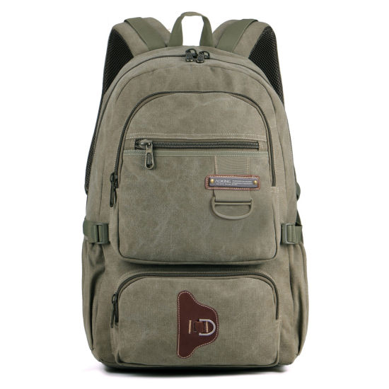 Canvas Double Shoulder Outdoor Leisure College School Students Sports Pack Backpack Bag (CY6888)