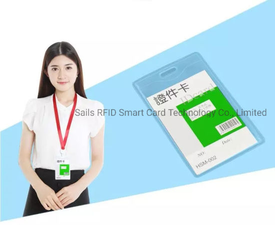 Vertical Transparent Colours ID//IC Card Holder Rainproof Case High Class Case