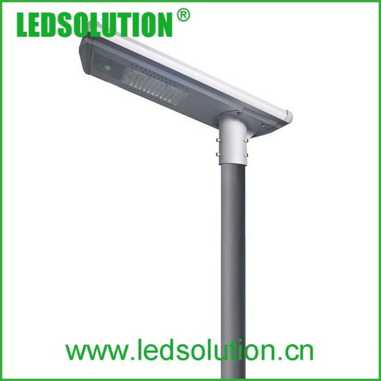 70W Intelligent PIR Senor All-in-One Solar LED Road Lamp pictures & photos
