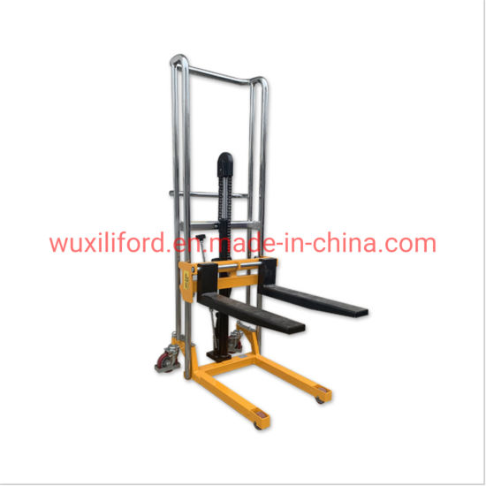 Hot Sale Small Manual Forklift/Hydraulic Hand Pallet Truck Stacker Pj4150