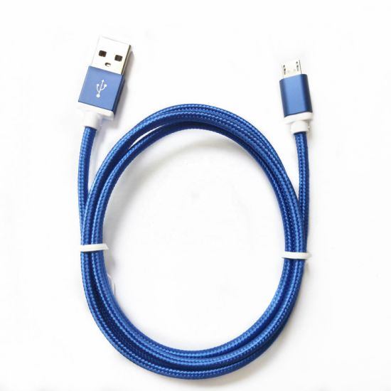 Portable USB to Micro Charging Cable with Nylon Braided