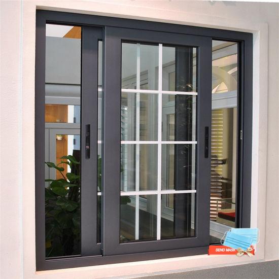 Cheap Price Foshan Manufacture House Used Aluminum Metal Frame Double Glass Glazed Hurricane Impact Sliding Windows