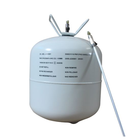 CE DOT-39 Non-Refillable Empty Steel Gas Cylinder 22L 13L 1L