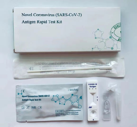 Self -Test at Home Use Excellent PCR Test Kit Antigen Saliva Rapid Test and Antibody Influenza a+B Combo Rapid Test Device