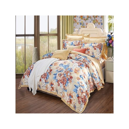 High Quality Beautiful Rose 100%Polyester Disperse Printed Bedsheet Hometextile Fabric
