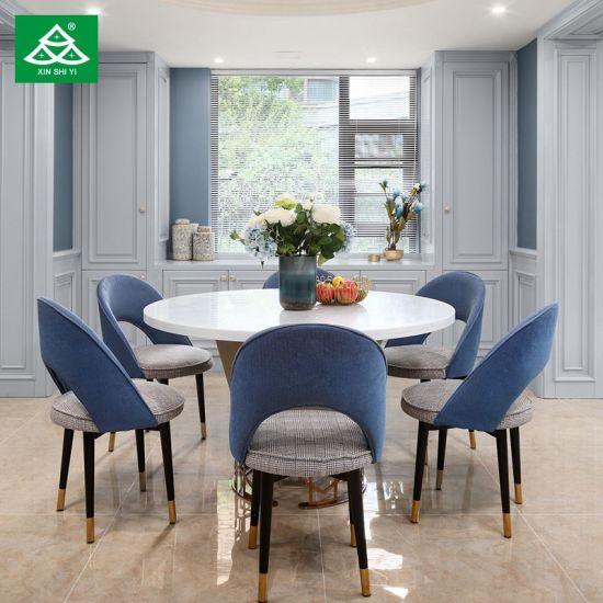 China Villa Furniture Marble Table Blue