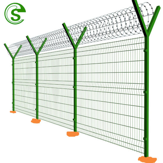 Export to Qatar Park Used Wire Mesh Fence with Bending Post on Top