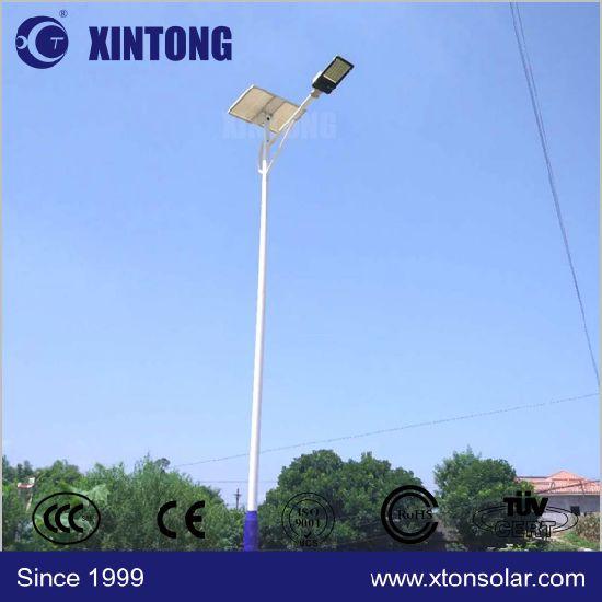 Conical Octagonal Galvanized Solar LED Street Light Pole