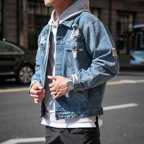 Wholesale High Quality Chaqueta De Jeans Jacket Mens