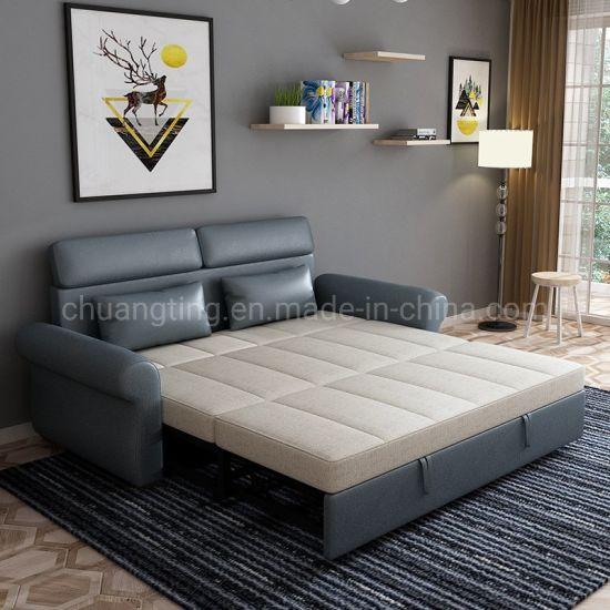 China Hotel Room House Furniture Fashion Folding Futon Sofa Bed With Stool Pull Out Sofa China Sofa Bed Sofa Cum Bed